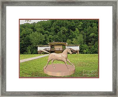 horse statue 45HS2 Framed Print by Pemaro