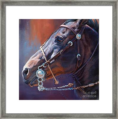 Horse Study Framed Print by Michelle Grant