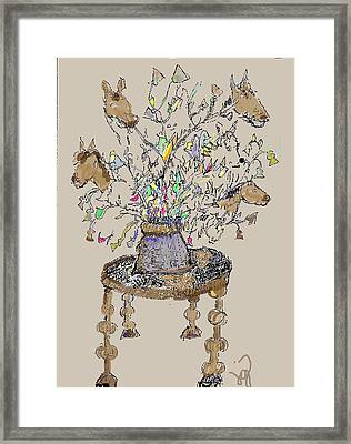 Horse Table Framed Print