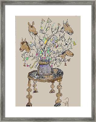 Horse Table Framed Print
