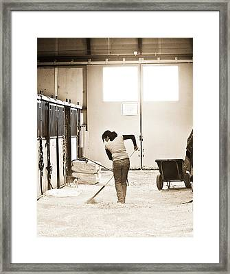 Horse Work Framed Print by Marilyn Hunt