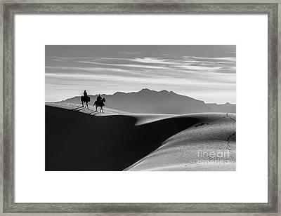 Horseback At White Sands Framed Print
