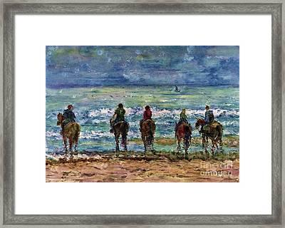 Horseback Beach Memories Framed Print