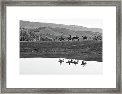 Horseback Landscape Framed Print