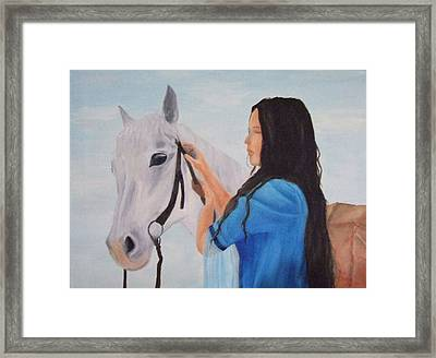 Horselady Framed Print by Robert Silvera