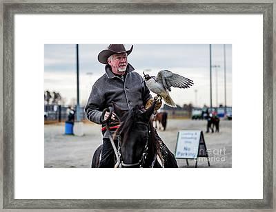 Horseman Riding With Gyr Falcon 4677 Framed Print by Doug Berry