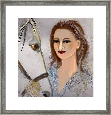 Horse'n Around Framed Print
