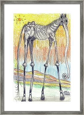 Horsephant Framed Print
