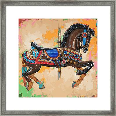 Horses #3 Framed Print by David Palmer