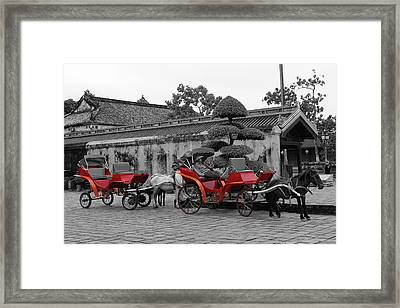 Horses And Carriages Framed Print