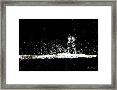 Horses And Men In Rain Framed Print