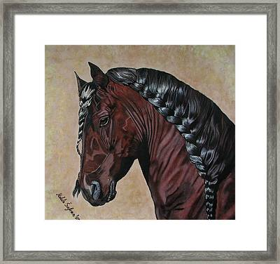 Horse's Haircut Framed Print