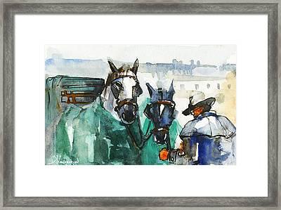 Horses Framed Print by Kristina Vardazaryan