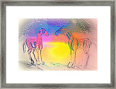 We Are Like The Horses Of Our Dreams And They Like Us  Framed Print