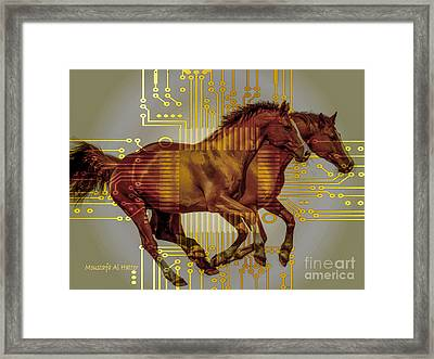 The Sound Of The Horses. Framed Print by Moustafa Al Hatter