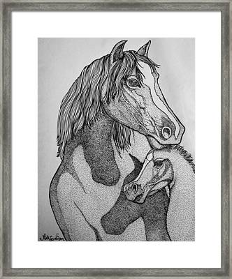 Horses Framed Print by Nick Gustafson