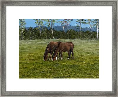 Horses Of Romance Framed Print