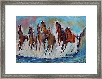 Horses Of Success Framed Print