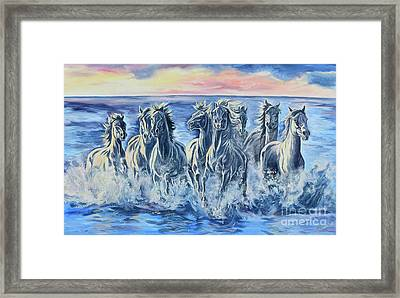 Horses Of The Sea Framed Print by Jana Goode