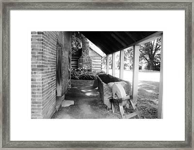 Horses Water Trough Framed Print by Peggy Leyva Conley