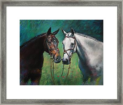 Horses Framed Print by Ylli Haruni
