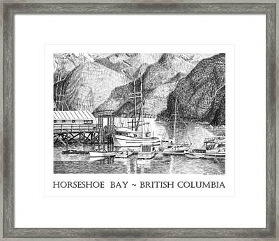 Horseshoe Bay British Columbia Framed Print