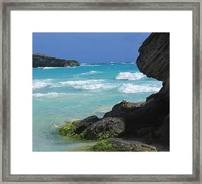 Horseshoe Bay Rocks Framed Print by Ian  MacDonald