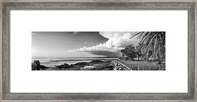 Framed Print featuring the photograph Horseshoe Beach by Howard Salmon