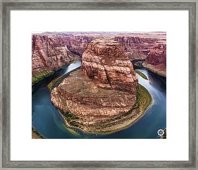 Horseshoe Bend - Aqua Framed Print