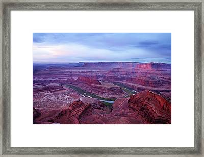Framed Print featuring the photograph Horseshoe Bend At Dawn by Marie Leslie