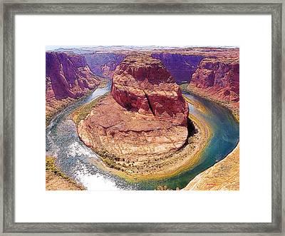 Horseshoe Bend Az Framed Print