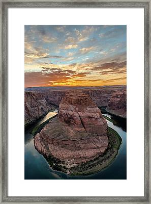 Framed Print featuring the photograph Horseshoe Bend by Chuck Jason