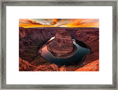 Horseshoe Bend, Colorado River, Page, Arizona  Framed Print