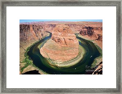 Horseshoe Bend Colorado River Framed Print