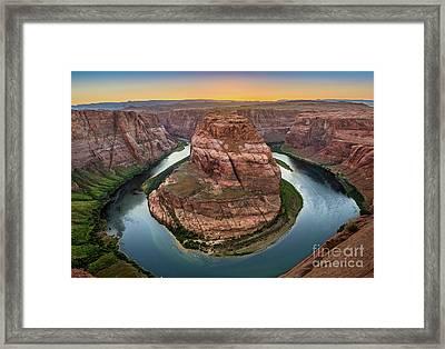 Horseshoe Bend Dusk Framed Print