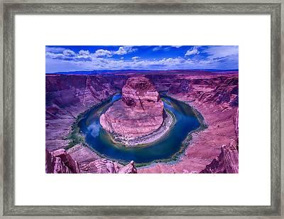 Horseshoe Bend Grand Canyon Arizona Framed Print by Garry Gay