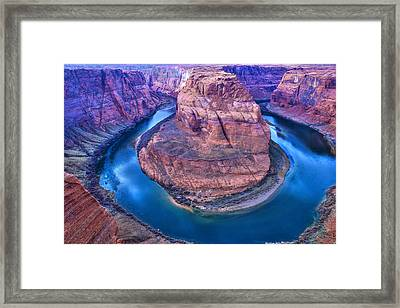 Horseshoe Bend Framed Print by Kobby Dagan
