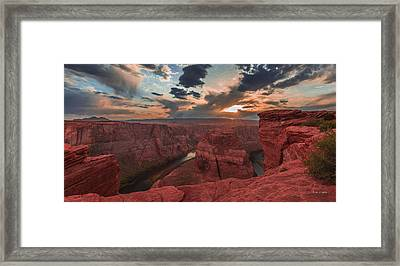 Horseshoe Bend Sunset Framed Print