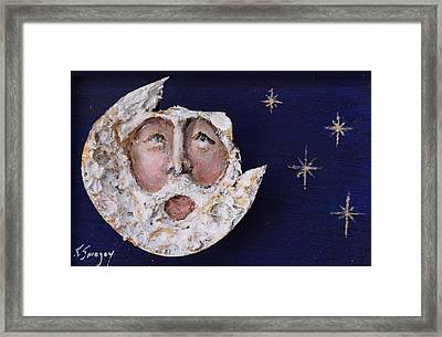 Horseshoe Crab Man In The Moon Framed Print by Roger Swezey