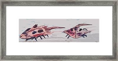 Horseshoe Crabs Framed Print by Andrew Blitman