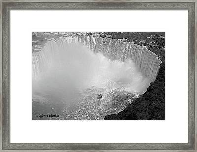 Horseshoe Falls Black And White Framed Print by DigiArt Diaries by Vicky B Fuller