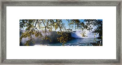 Horseshoe Falls Niagara Falls Ny Framed Print by Panoramic Images