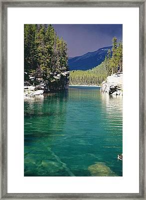 Horseshoe Lake Framed Print by Shirley Sirois