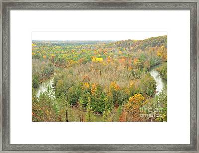 Horseshoe River Bend Of The High Rollaways Framed Print