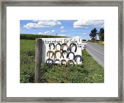 Horseshoes For Sale Framed Print