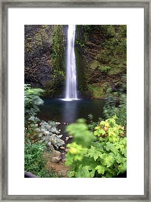 Horsetail Falls Basin Framed Print by Marty Koch