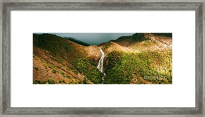 Horsetail Falls In Queenstown Tasmania Framed Print