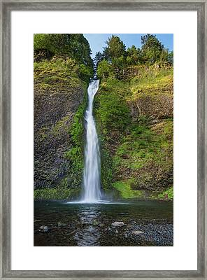 Horsetail Falls In Spring Framed Print by Greg Nyquist