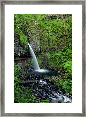 Horsetail Falls Waterfall Art By Kaylyn Franks Framed Print