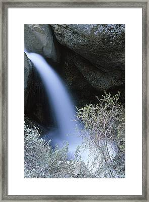 Horsetail Waterfall - Judell Canyon Framed Print by Soli Deo Gloria Wilderness And Wildlife Photography